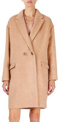 Isabel Marant Filipo Long Two-Button Wool-Cashmere Coat