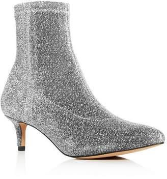 Rebecca Minkoff Women's Sayres Glitter Kitten-Heel Booties