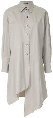 Jil Sander Navy asymmetric shirt dress