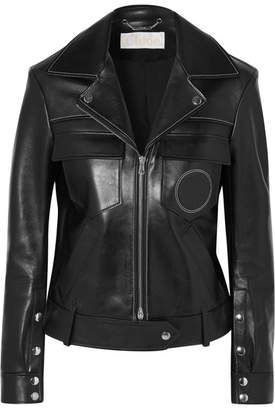 Chloé Leather Biker Jacket - Black
