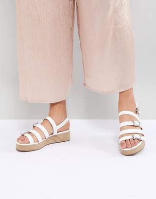 Asos Design Telson Multi Buckle Flatforms