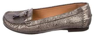 Stuart Weitzman Metallic Leather Loafers
