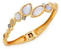 Alexis Bittar Elements Moonlight Mother-Of-Pearl & Crystal Doublet Rocky Bypass Bracelet