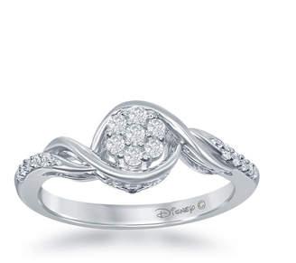 ENCHANTED FINE JEWELRY BY DISNEY Enchanted Disney Fine Jewelry 1/5 C.T. T.W. Diamond 10K White Gold Frozen Swirl Ring