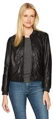 Lucky Brand Women's Leather Bomber Jacket