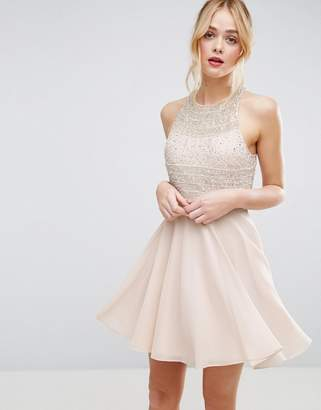 Asos DESIGN Embellished Crop Top Beaded Mini Dress