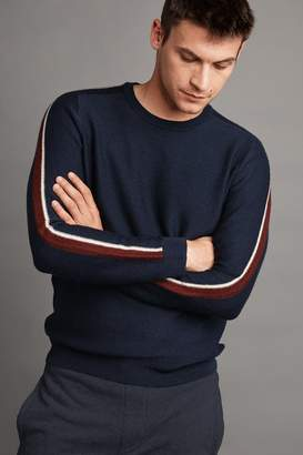 Velvet by Graham & Spencer TAD WOOL BLEND STRIPE SWEATER