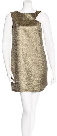 Saint LaurentSaint Laurent Metallic Sleeveless Dress