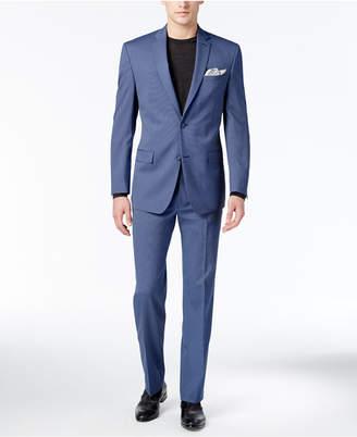 Marc New York by Andrew Marc Men's Classic-Fit Medium Blue Mini-Stripe Suit $375 thestylecure.com