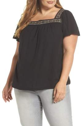 Vince Camuto Beaded Neck Top