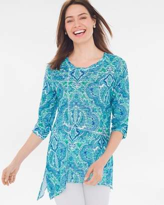 Of the Moment Zenergy Paisley Seam-Detail Tunic