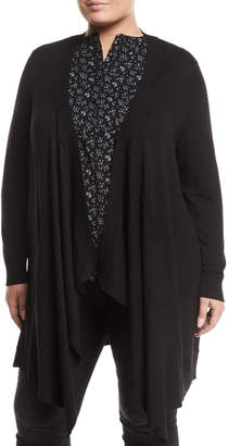 Love Scarlett Plus Draped-Front Pocket Cardigan, Plus Size