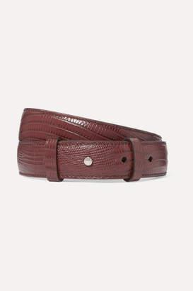 Acne Studios Anemone Lizard-effect Leather Belt