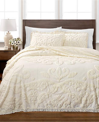 Martha Stewart Collection Chenille Medallion Full Bedspread, Created for Macy's