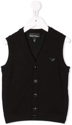 Emporio Armani Kids buttoned knitted waistcoat