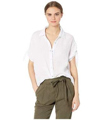 be651bed Michael Stars Tess Double Gauze Tie Sleeve Button Down Top