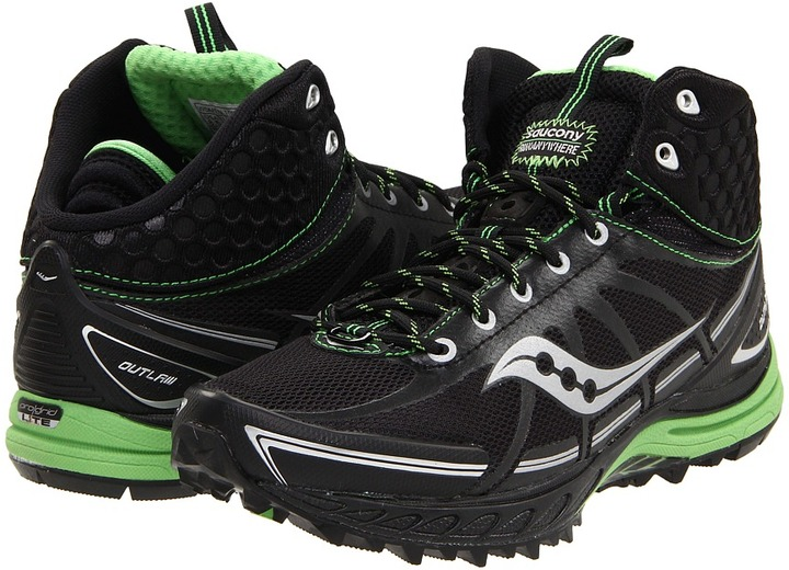 Saucony ProGrid Outlaw (Black/Green) - Footwear