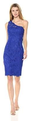 Eliza J Women's One Shoulder Lace Sheath (Regular & Petite)