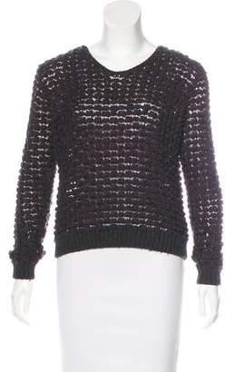 Theyskens' Theory Open Knit Long Sleeve Sweater