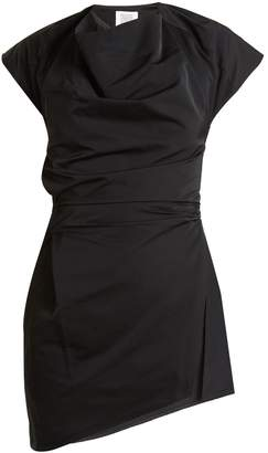 Rosie Assoulin Asymmetric draped-front taffeta top