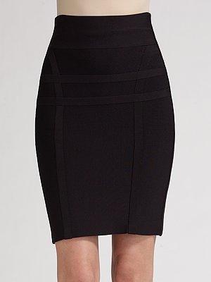 Herve Leger High-Waist Stretch Skirt