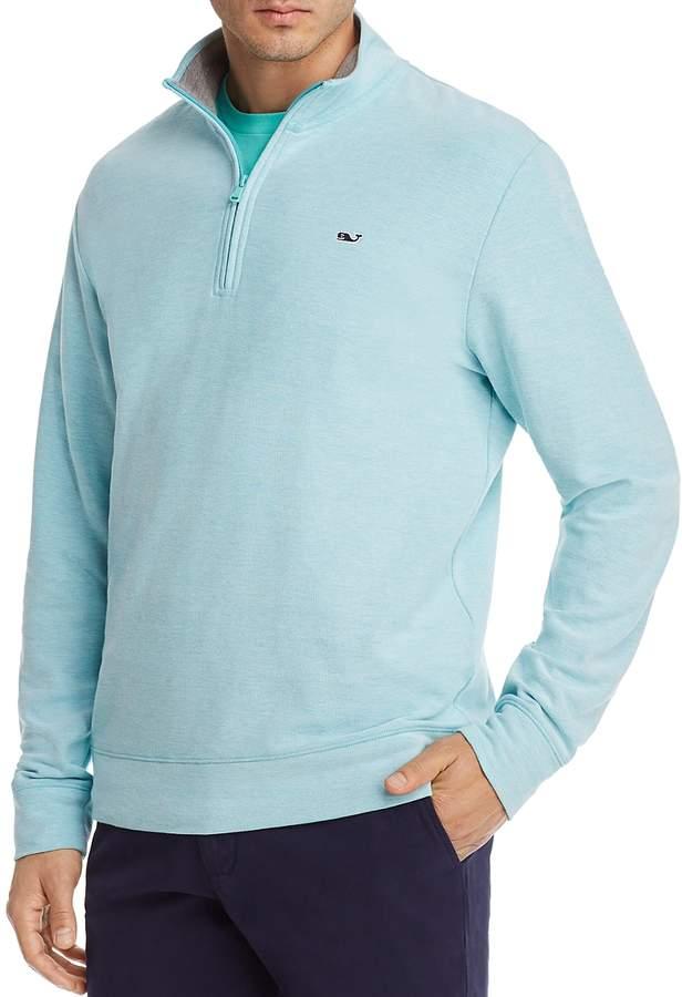 Reverse Oxford Pique Quarter-Zip Pullover