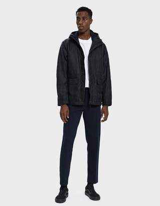 Norse Projects Nunk Waxed Cotton Parka in Black Watch Check