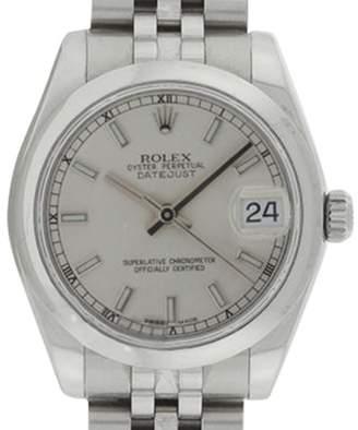 Rolex Midsize Datejust 178240 Jubilee Stainless Steel Silver Stick Dial 31mm Watch