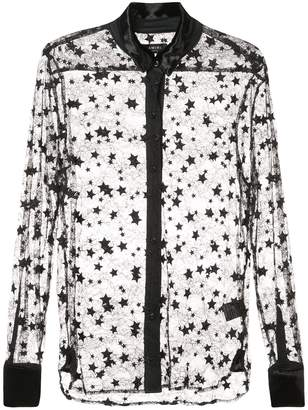 Amiri lace star shirt