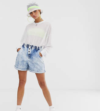 Collusion COLLUSION elasticated shorts in vintage bleach wash