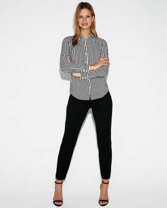 Express Fitted Bold Stripe Essential Shirt