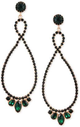 GUESS Twist Multi-Stone Statement Drop Earrings