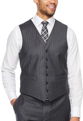 STAFFORD EXECUTIVE Stafford Executive Stripe Classic Fit Suit Vest