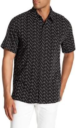 Toscano Short Sleeve Micro Print Silk Woven Shirt