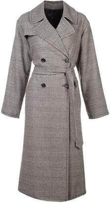 Nili Lotan double breasted check coat