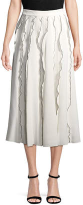 Derek Lam 10 Crosby Derek Lam Midi Ruffle Skirt