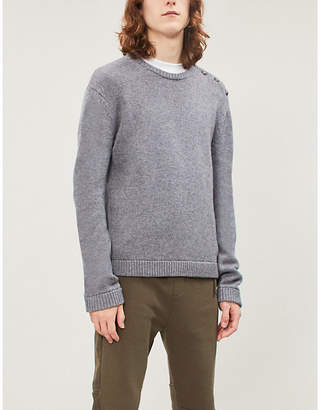 The Kooples Skull button trim wool-blend jumper
