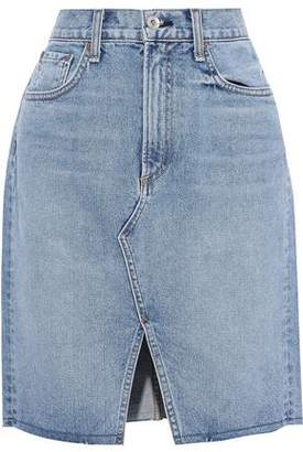 Rag & Bone Suji Faded Denim Mini Skirt