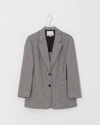 3.1 Phillip Lim Black/White Checked Oversized Blazer