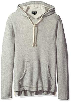 Velvet by Graham & Spencer Men's Macon Extra Long Pull Over Hoodie in French Terry