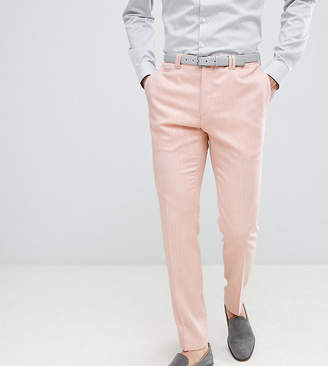 Noak skinny wedding suit pants in crosshatch
