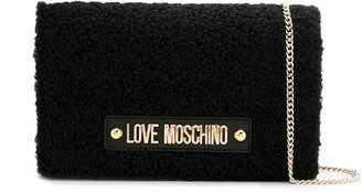 Love Moschino shearling cross body bag