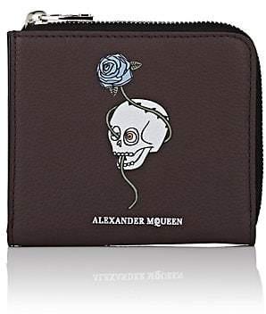 Alexander McQueen Men's Leather Zip Card Case