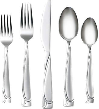 Cambridge Silversmiths Mena Frost40-pc.Flatware Set with Chrome Buffet Storage Tray