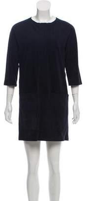 Etoile Isabel Marant Suede Long Sleeve Dress