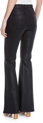 Hudson Bullocks Lace-Up Faux-Leather Flare-Leg Pants