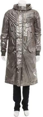 Rick Owens Metallic Hooded Coat
