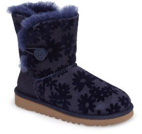 Toddler Girl's Ugg Bailey Button Flowers Boot $99.95 thestylecure.com