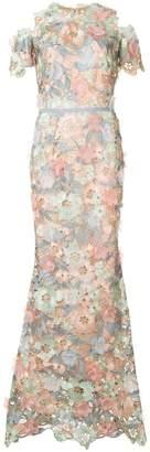 Marchesa cutwork lace dress