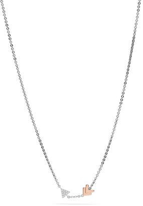 Fossil Sterling Silver Arrow Necklace